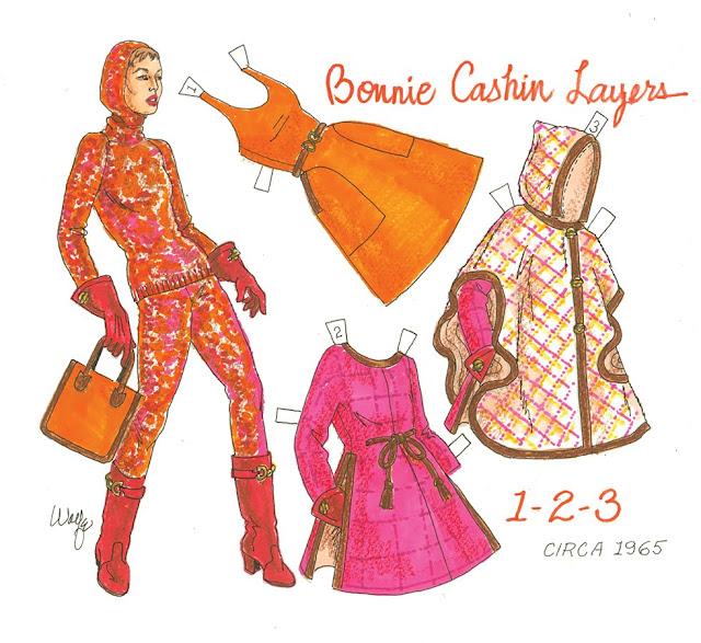 Bonnie Cashin paper doll