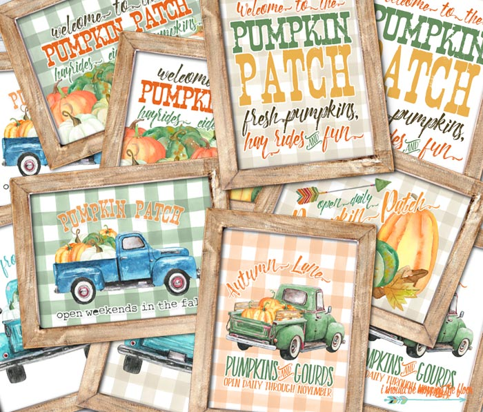 Gorgeous Fall Pumpkin Patch Printables