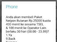 Paket telpon Telkomsel 500 menit/30 hari