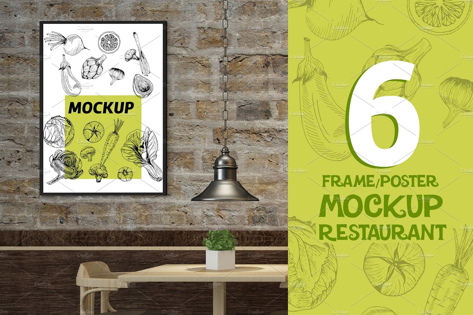 Restaurant Frame Poster Mockups