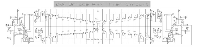 High Power Amplifier Circuit 2000 Watt