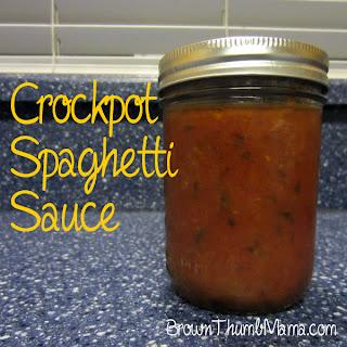 Crockpot Spaghetti Sauce: BrownThumbMama.com