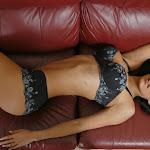 Renata Gonzalez Fotos Modelando Lencería Negra Foto 4