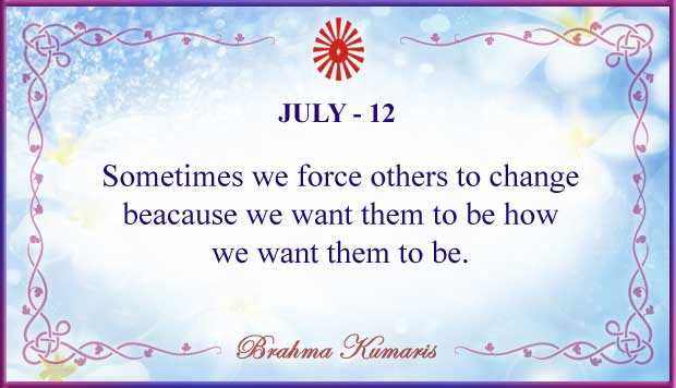 Thought For The Day July 12