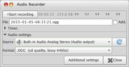 How to Record Radio Streaming on Linux w/ Audio Recorder