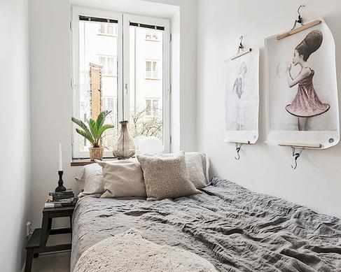 Desain kamar tidur ukuran kecil sederhana tapi nyaman
