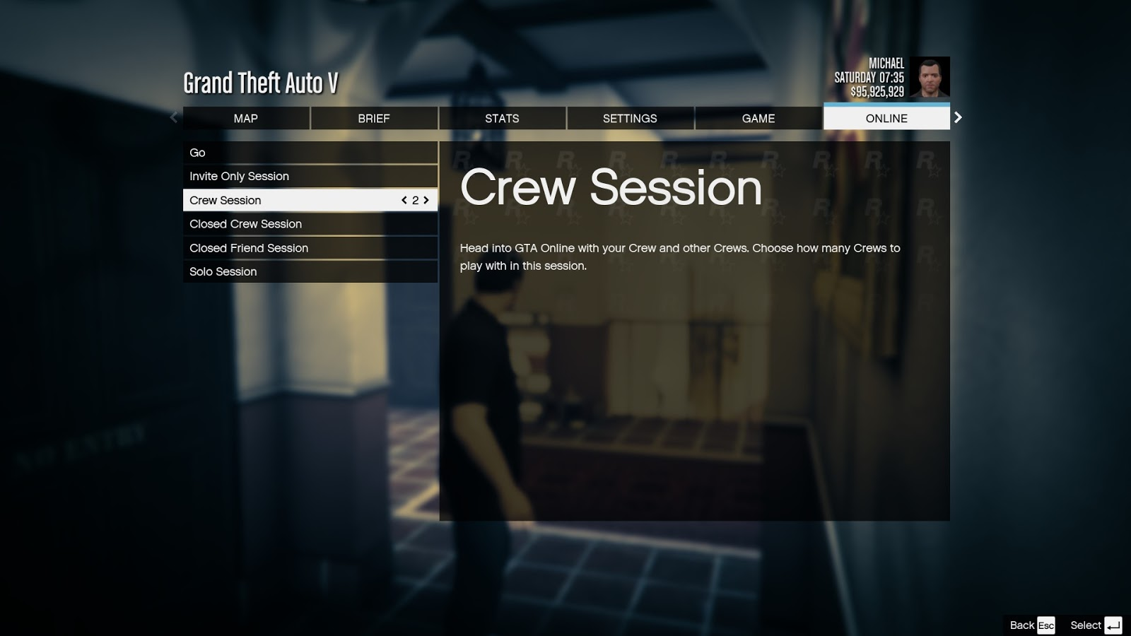 how to play gta v online solo session