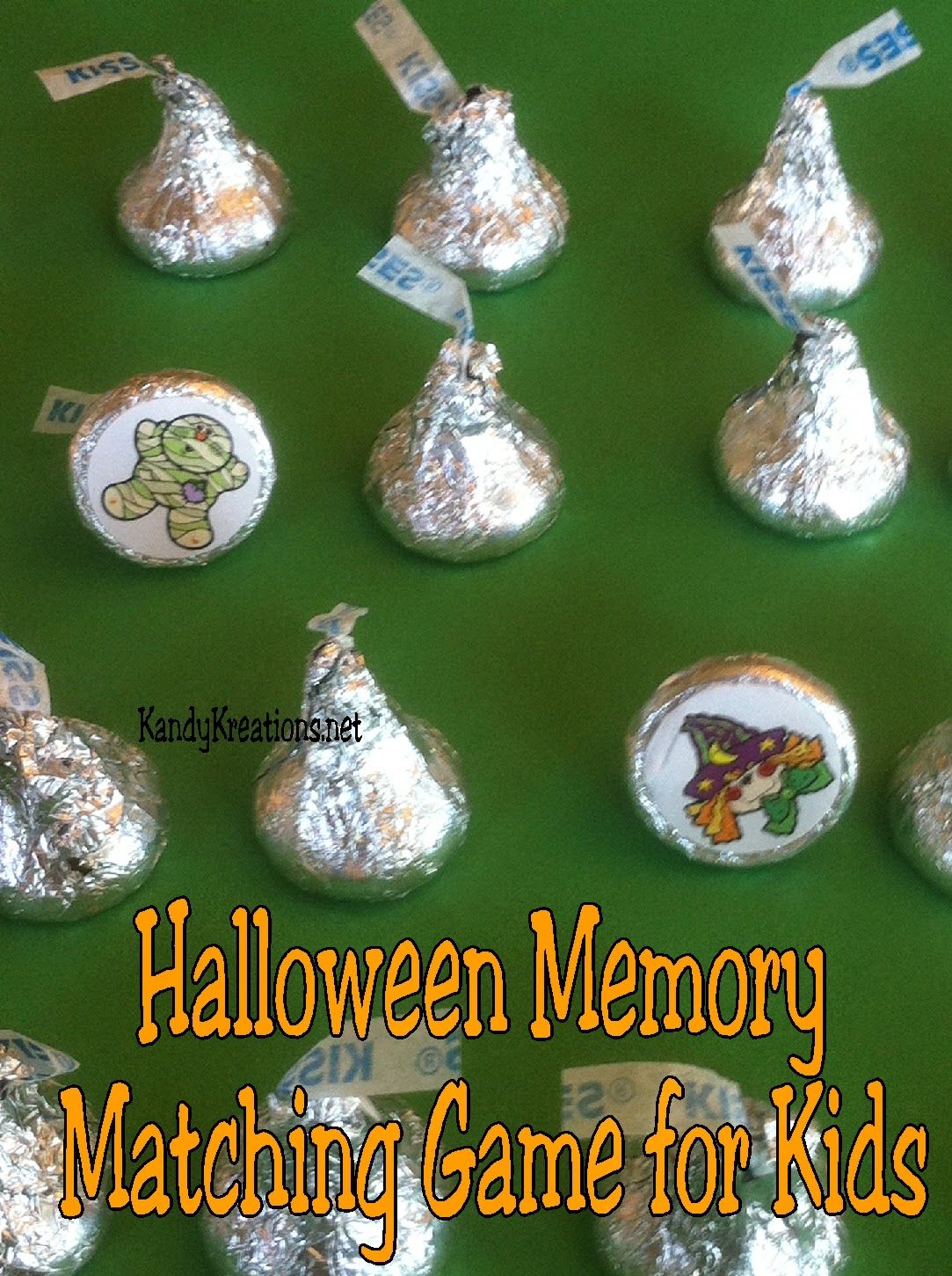 Easy Halloween Memory Matching Game For Kids