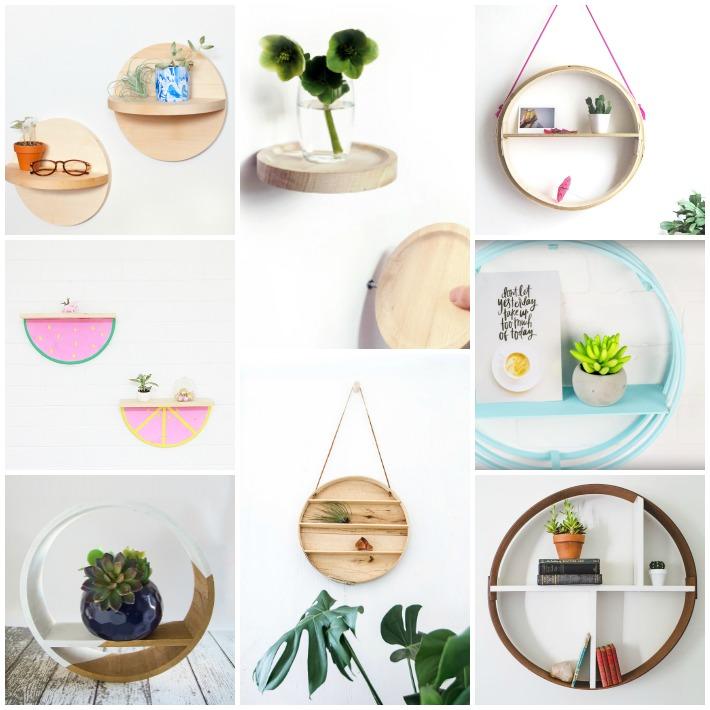 8 proyectos diy para crear estanterías circulares