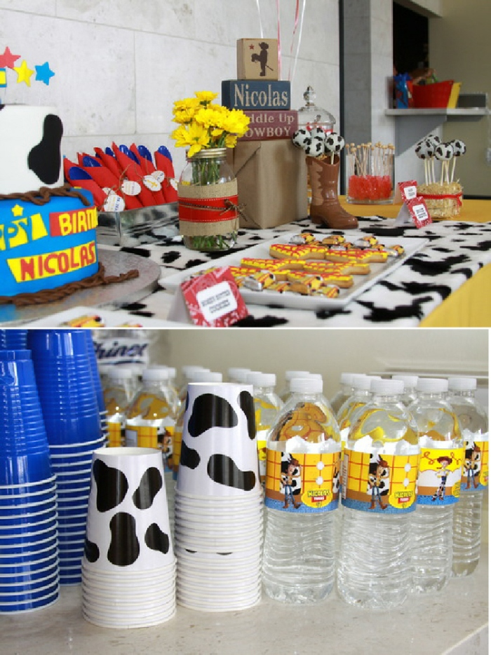 Woody's Cowboy Inspired Round Up Party - via BirdsParty.com