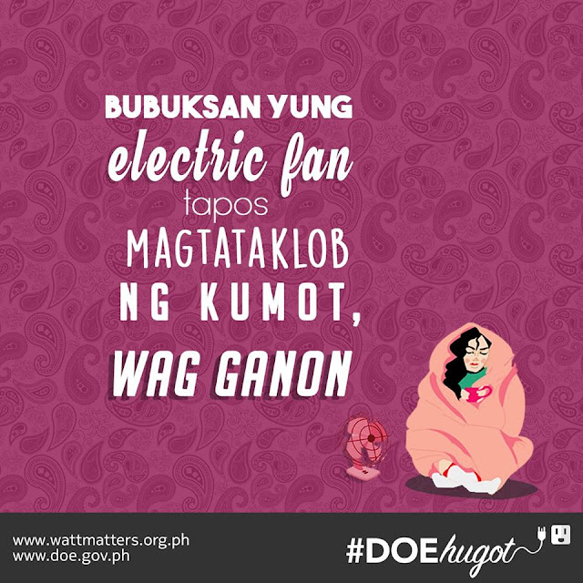Philippine Department of Energy Hugot Lines Electric Fan