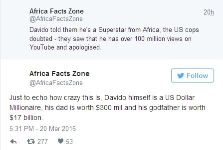 How Davido's youtube videos recently saved him from being arrested by the US Police