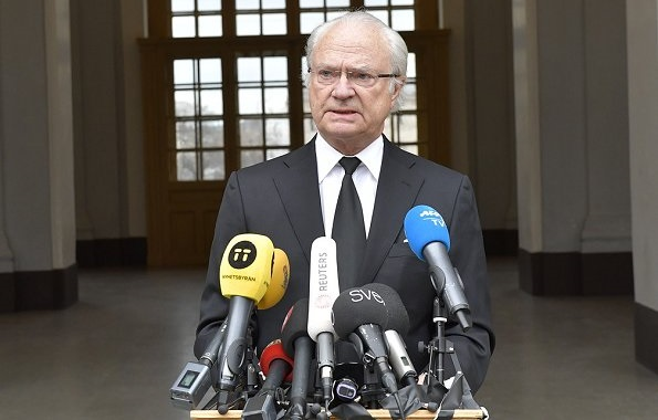 King Carl Gustaf and Queen Silvia, Crown Princess Victoria, Prince Carl Philip and Princess Sofia attend meeting about the terrorist attack in Stockholm