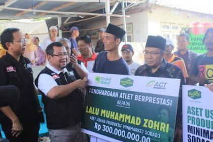 Aksi Cepat Tanggap (ACT) Beri Penghargaan untuk Lalu M. Zohri Berupa Minimarket Sodaqo