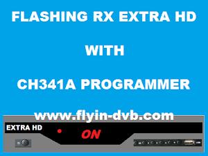 Cara Flash Receiver Extra HD Mode ON Dengan CH341A Programmer