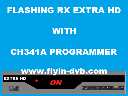 Cara Flash Receiver Extra HD Mode ON Dengan CH341A Programmer