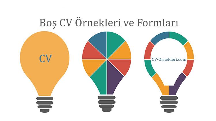 Boş CV Örnekleri Formları