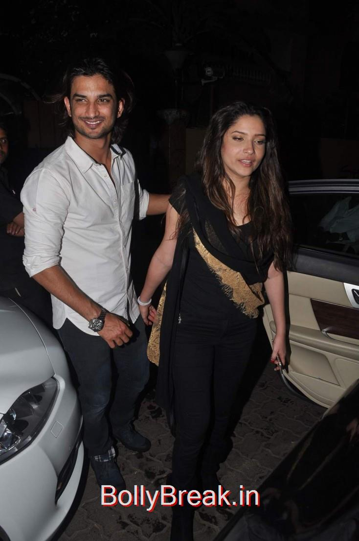 Sushant Singh Rajput and Ankita Lokhande, Celebs  at Karim Morani's Birthday Bash