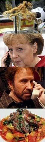 Angela Merkel und Chuck Norris witziges zum lachen