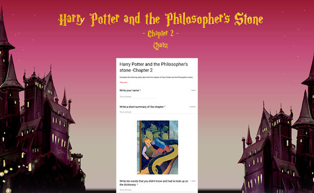 Reading comprehension questionnaire about the second chapter of Harry Potter and the Philosopher's Stone