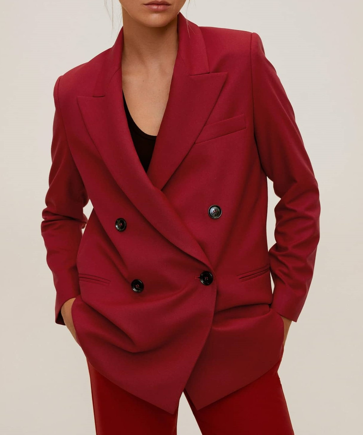 double-breasted structured blazer