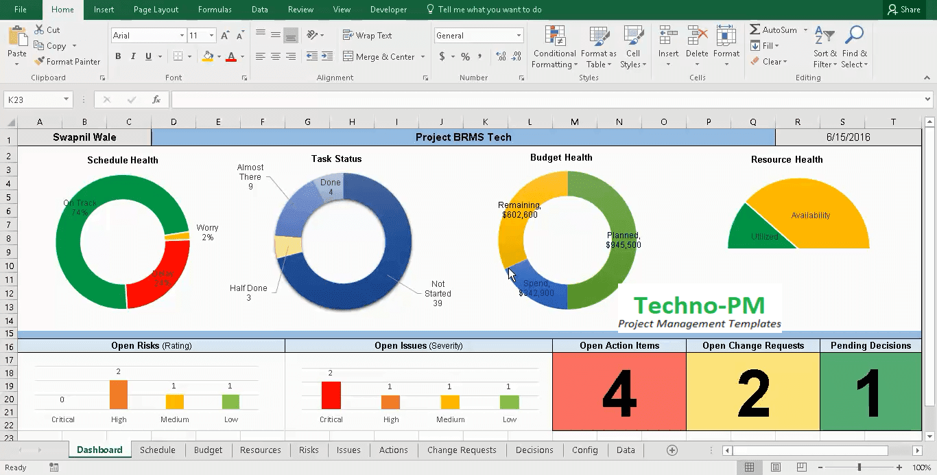 Project Management Tracker Excel Theminecraftserver Best