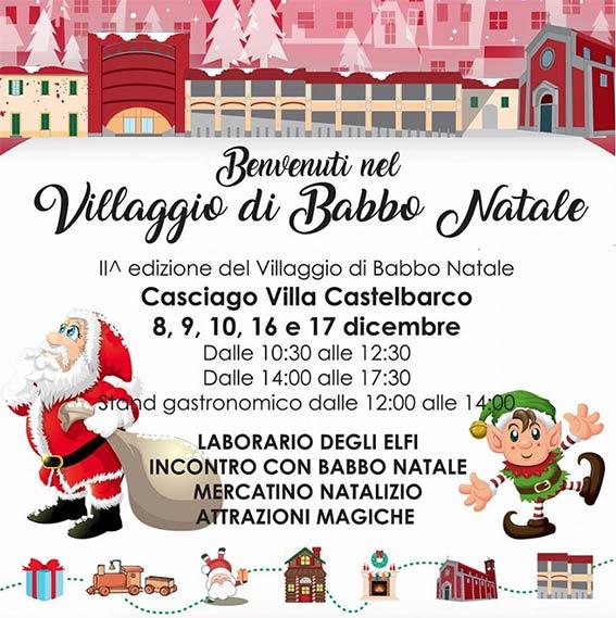La locandina di Villaggio di Babbo Natale a Casciago 2017