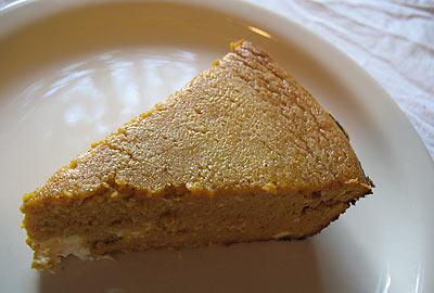 Crustless Pumpkin Pie Using Yellow Cake Mix