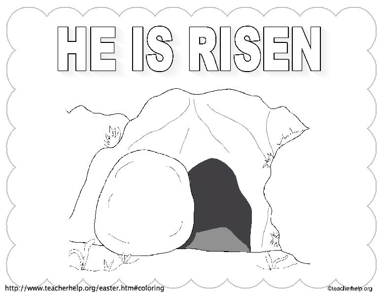 2020 Other | Images: Jesus Resurrection Tomb Coloring Page