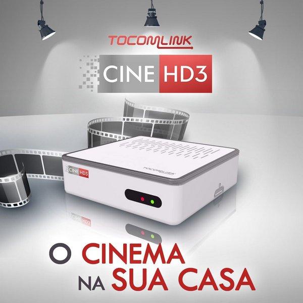 TOCOMLINK CINE HD 3 NOVA ATUALIZAÇÃO V01.002 - 27/04/2019