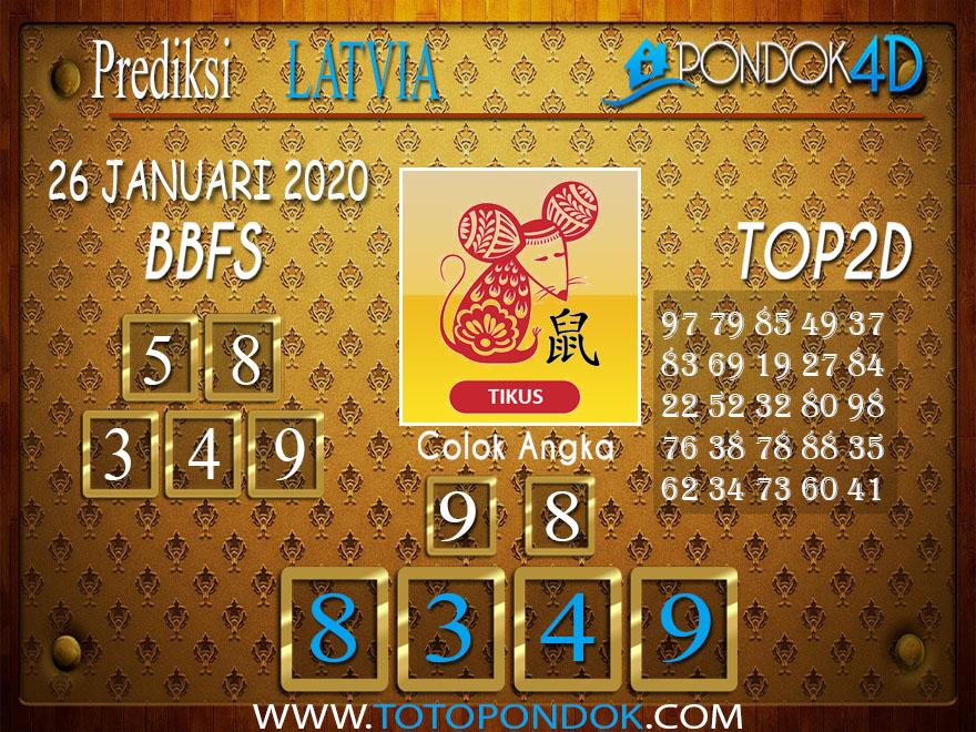 Prediksi Togel LATVIA POOLS PONDOK4D 26 JANUARI 2020