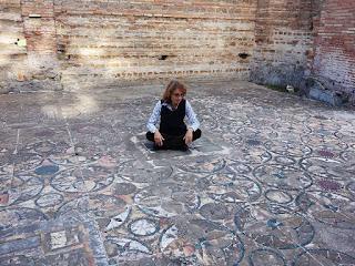 Pavimento com mosaico em Domus de Ostia Antiga