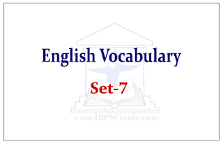 English Vocabulary Set-7 (with meaning and example)