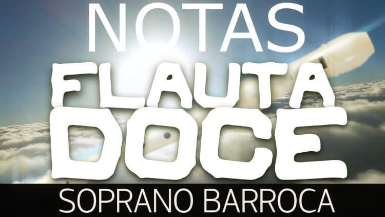 Posição das notas na flauta doce soprano barroca