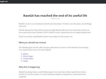 Alternatif CDN Gratis untuk GitHub, GitLab, Bitbucket selain Rawgit