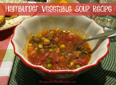 I like to start with a can of soup, inventing my own tasty creation as I go. That's how this 4-ingredient Hamburger Vegetable Soup recipe was born.