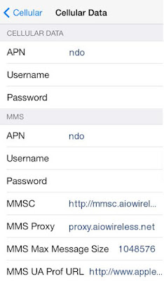 Cricket Wireless APN Settings for iPhone