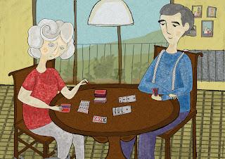 Barbara Bisarello-CoCode Studio- CoCode Market & Studio- La partita a carte 1- 2016-42 x 29,7 cm -Illustrazione digitale