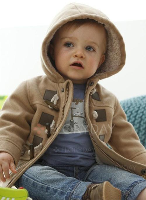 Boys' Solid Hooded Coats