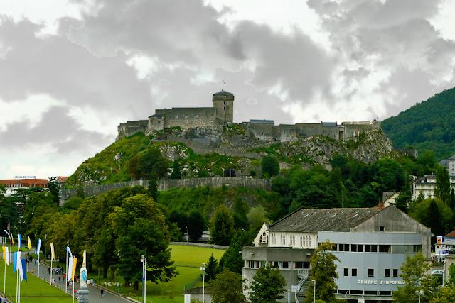 LOURDES fortress. Lourdes. France. Лурдская крепость. Лурд. Франция.