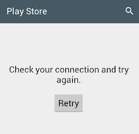 Playstore tidak terhubung ke internet