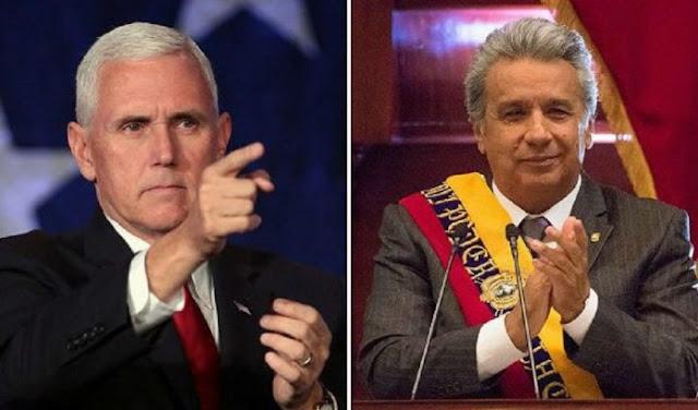 "Pence a Moreno: ""Nos enfrentamos al colapso de la dictadura venezolana"""