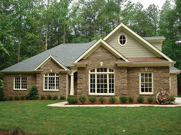 Brick-Ranch-House-Plans3 House With Brick Design on house with wood, house with concrete, house with swings, house with pavers,