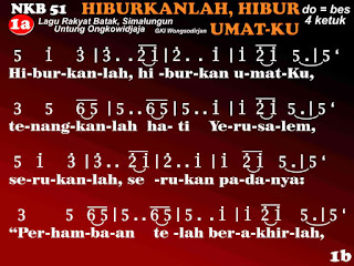 Lirik dan Not NKB 51 Hiburkanlah, Hiburkan UmatKu