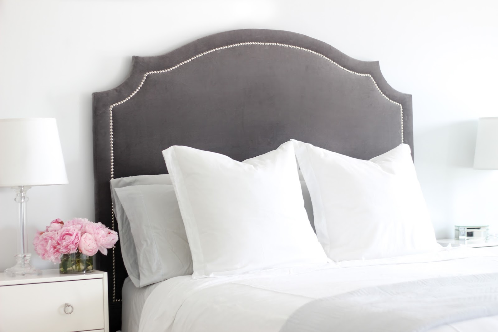 Making An Upholstered Headboard With Nailhead Trim Diy Upholstered Headboard With Nailhead Trim Update Home
