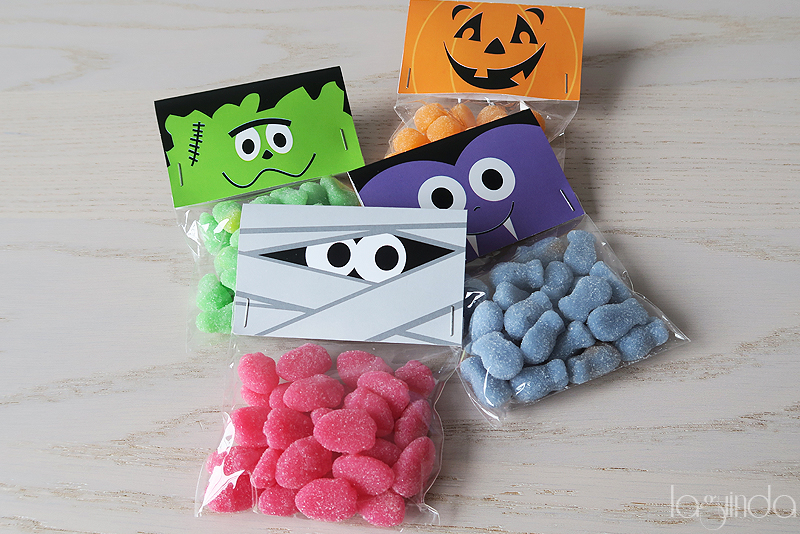 free halloween candy bag template