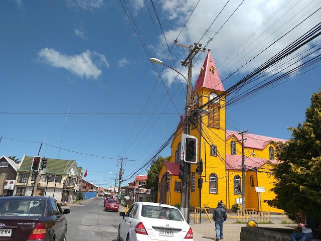 Iglesia de San Miguel Arcangel de Cabulco, cerca de Puerto Montt (Chile)