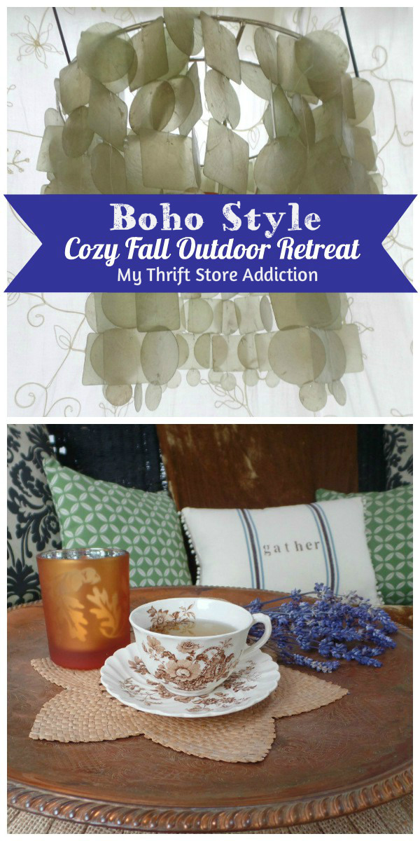 boho style cozy fall outdoor retreat
