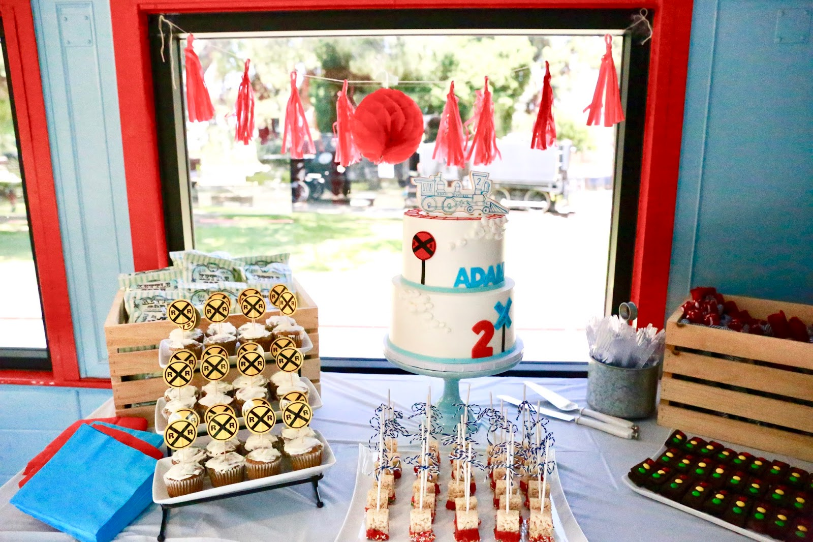 train theme dessert table