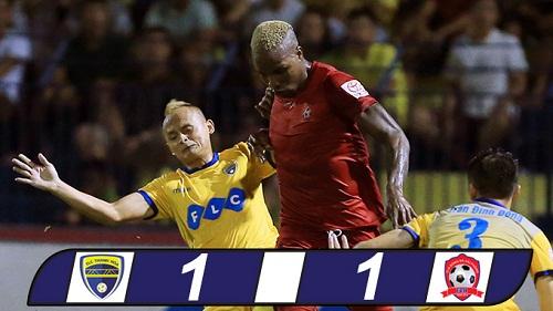 Tỷ số chung cuộc của trận đấu là 1 - 1.
